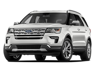 white new ford explorer