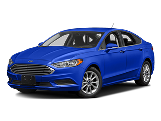blue new ford fusion