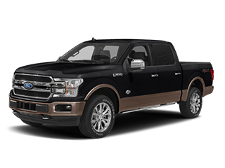 black ford f-150 pickup truck