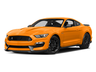 orange new ford mustang