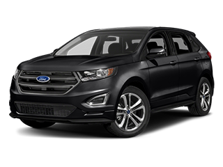 black ford edge suv