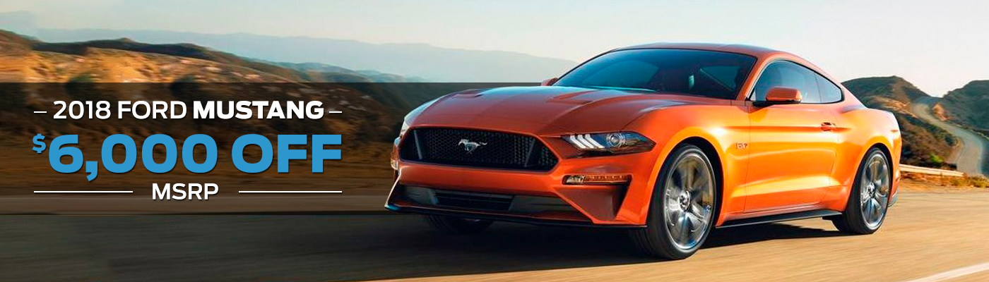 2018 orange ford mustang special