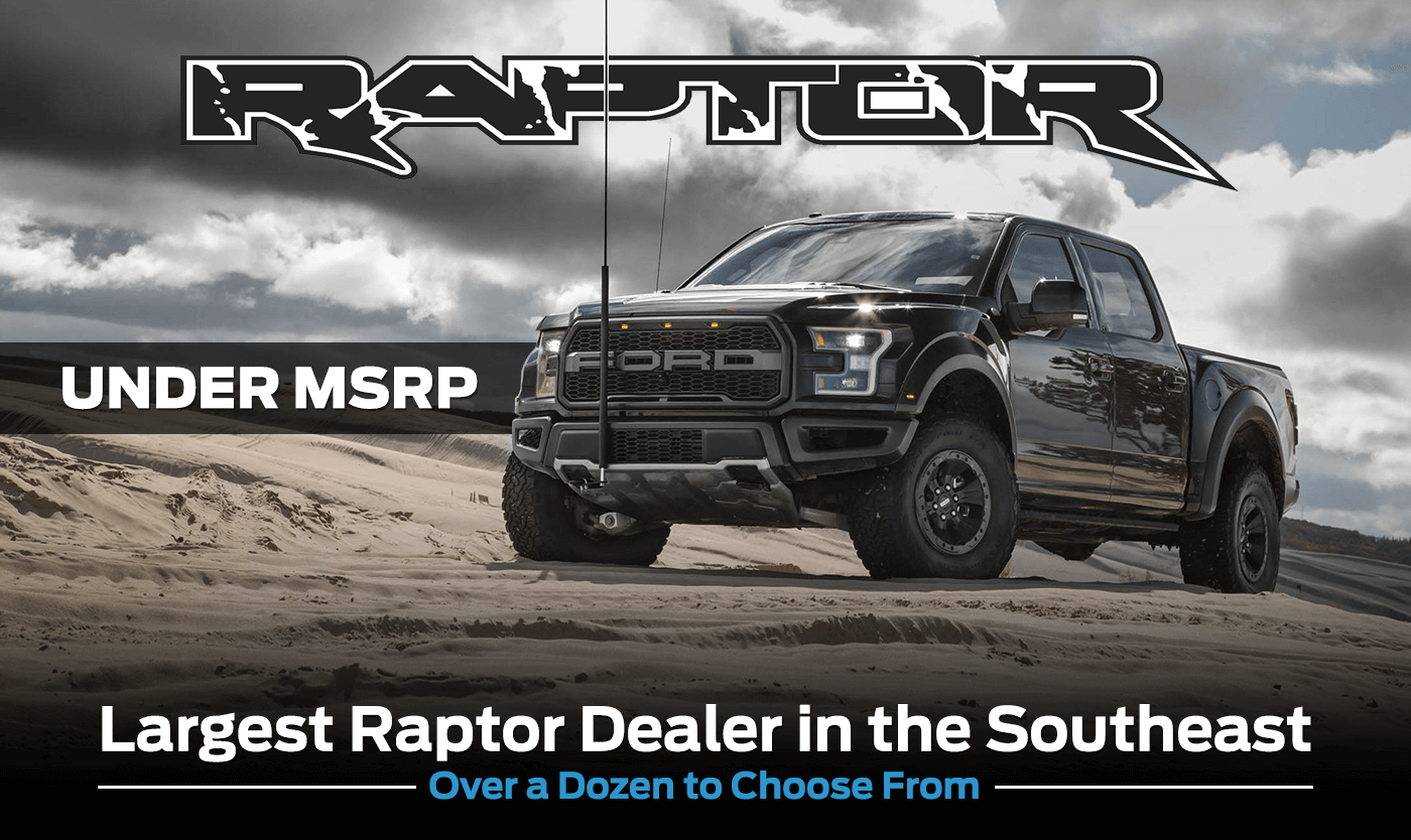 black 2018 ford f-150 raptor in montgomery