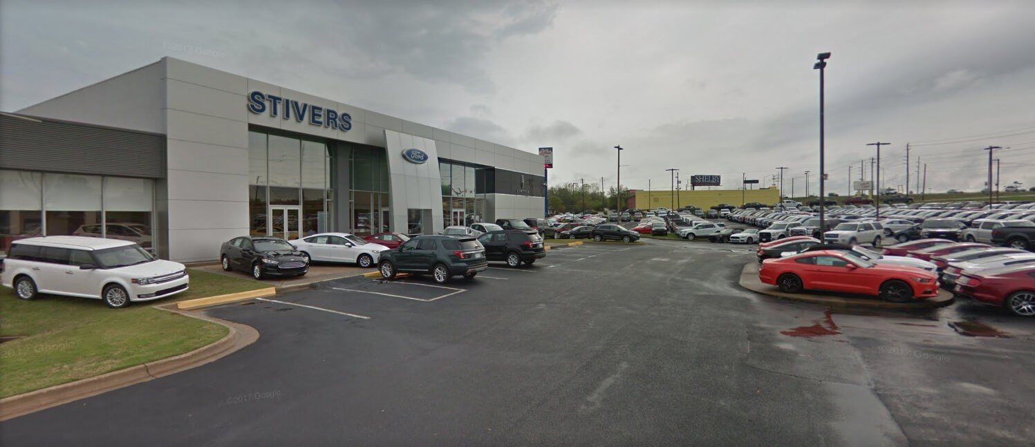 Outside of Stivers Ford located in Montgomery AL