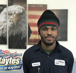 Service Technician Allex Bennet in Service at Leo Kaytes Ford