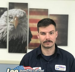 Service Technician Kyle Peters in Service at Leo Kaytes Ford