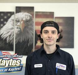 Service Technician Christian Porcaro in Service at Leo Kaytes Ford