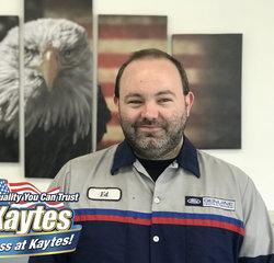 Senior Master Technician Eddie Howie in Service at Leo Kaytes Ford