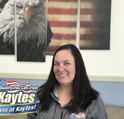 Motor Vehicle Clerk Heather Ruxton in Office and Support Staff at Leo Kaytes Ford