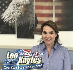 Service Advisor Heather DiMechele in Service at Leo Kaytes Ford