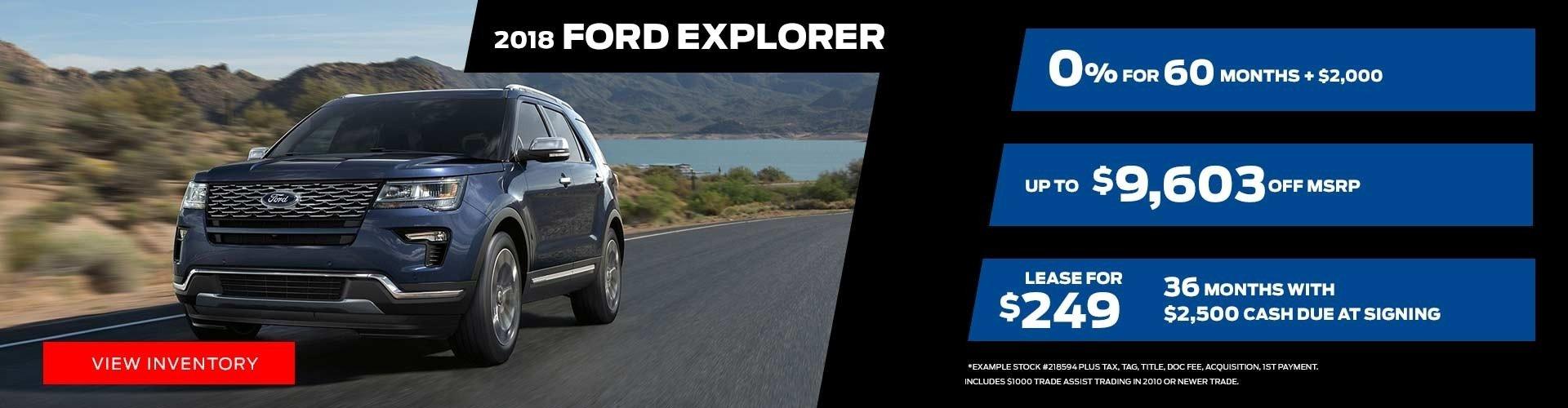 2018 Ford Explorer Special Offer
