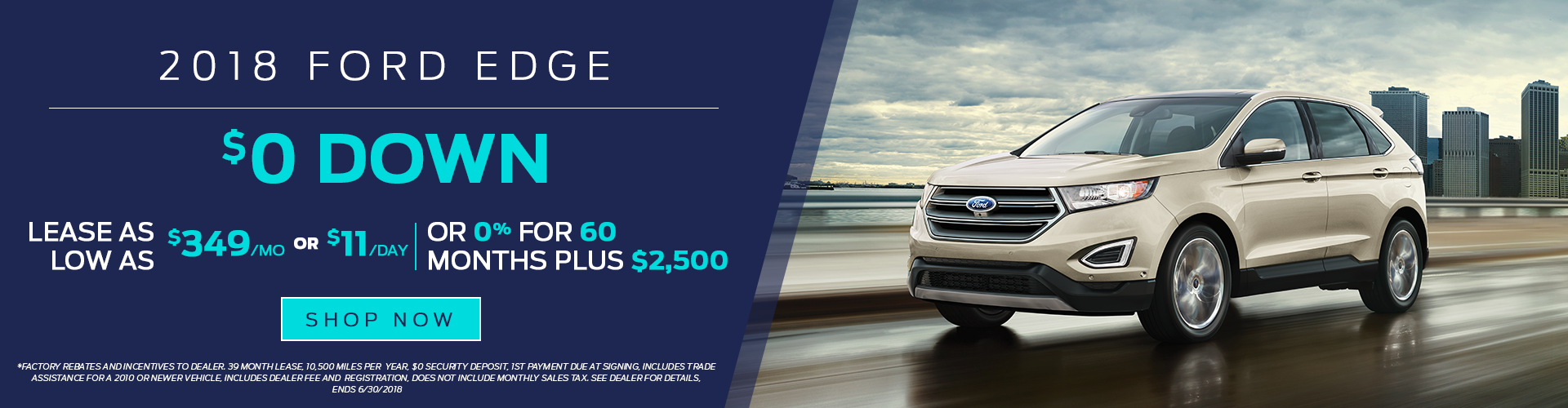 2018 Ford Edge for Lease