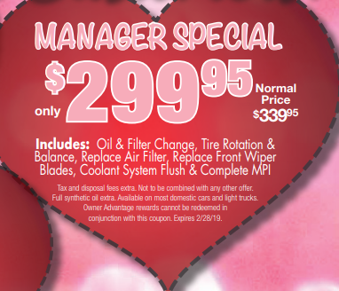 Coupon for Manager's Special normally $339.95