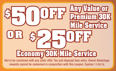 Coupon for Service Special $50 off or $25 off