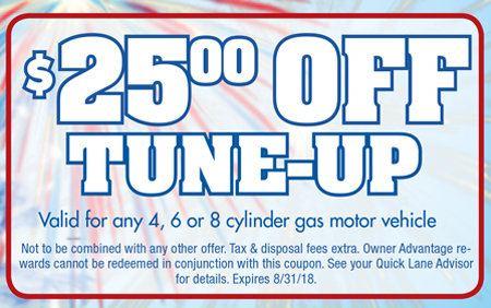 Coupon for $25 Off Tune-Up