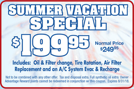 Coupon for Summer Vacation Special - $199.95 Normal Price $249.95
