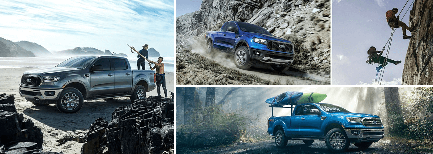 blue 2019 ford ranger in action in Asheville