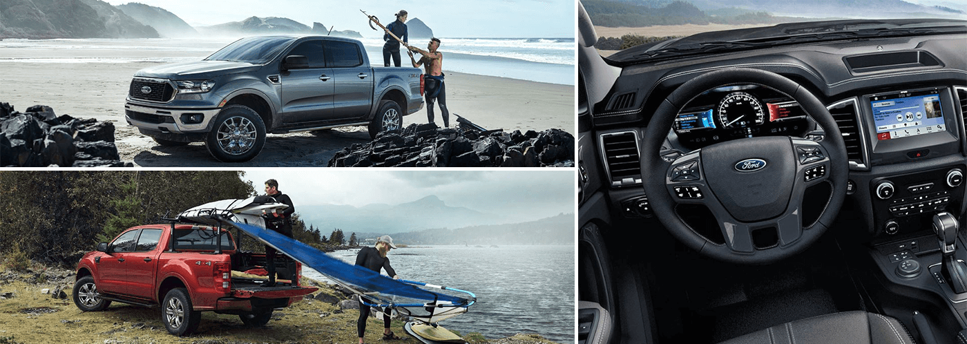 collage of 2019 ford ranger features