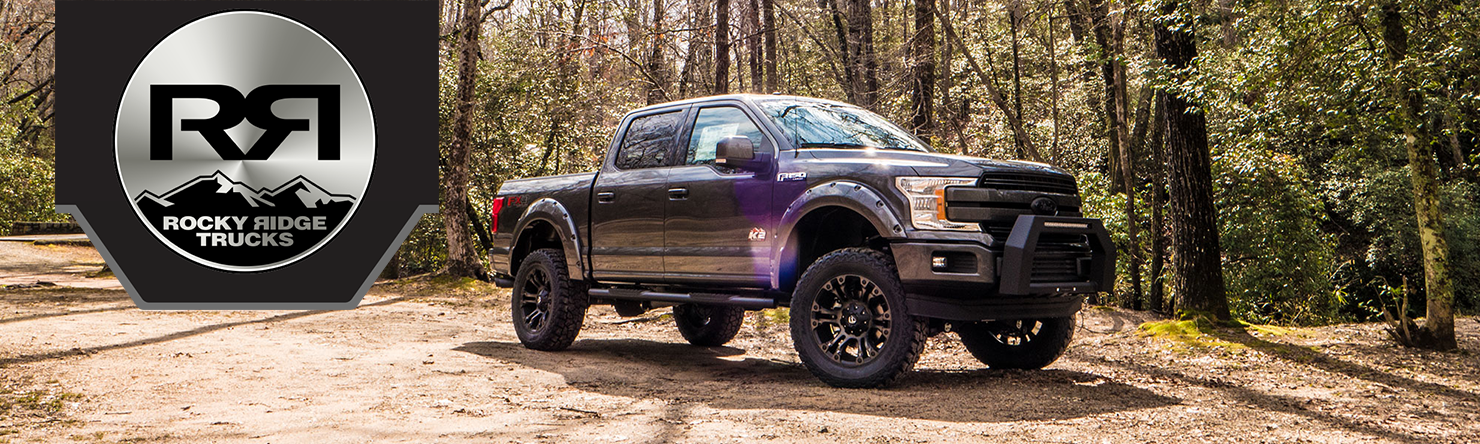 Black Ford F  With A Rocky Ridge K Edition Lift Kit