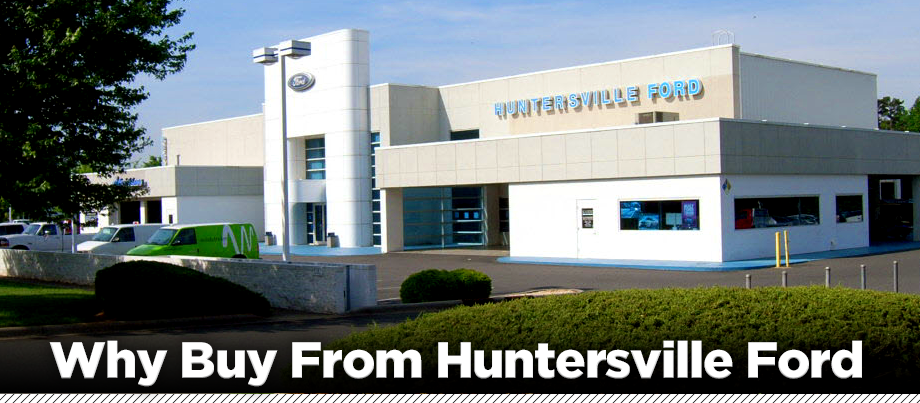 Huntersville Ford building just outside of Charlotte NC