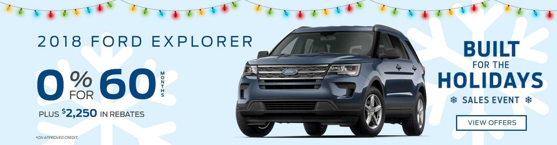 Special offer on 2018 Ford Explorer 2018 Ford Explorer