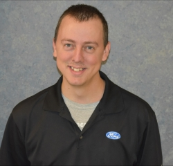 Service Advisor Nick Staller in Service at Huntersville Ford
