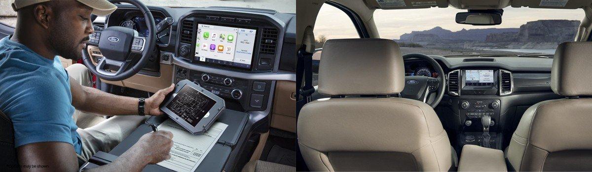 2021 Ford F-150 vs Ford Ranger Interior