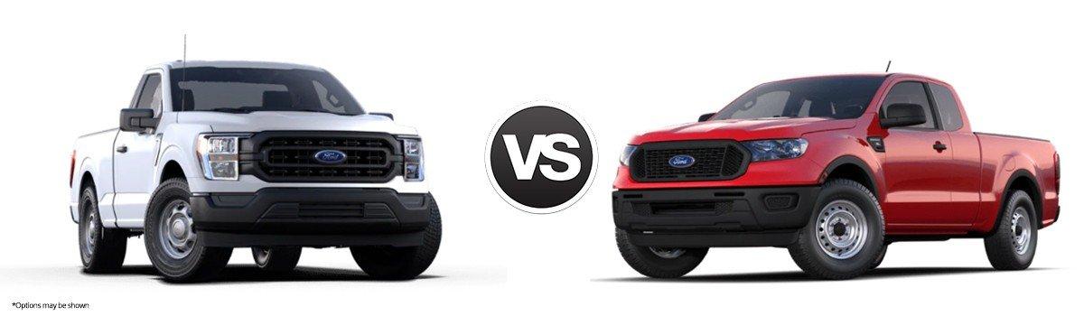 2021 Ford F-150 vs Ford Ranger