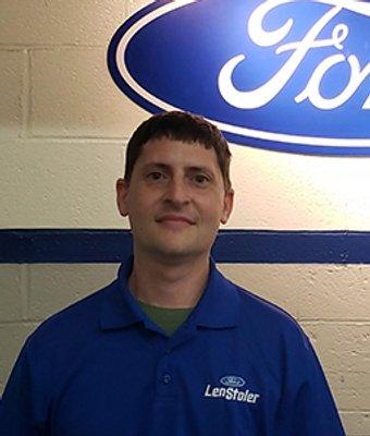 Service Advisor Mike Mazor in Service at Len Stoler Ford