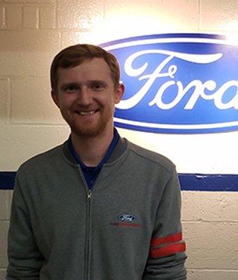 Service Advisor Nick Roche in Service at Len Stoler Ford