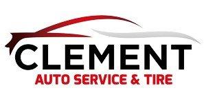 clement auto service tire logo