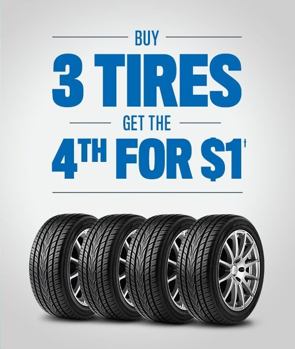 buy 3 get 1 for 1 dollar tire special