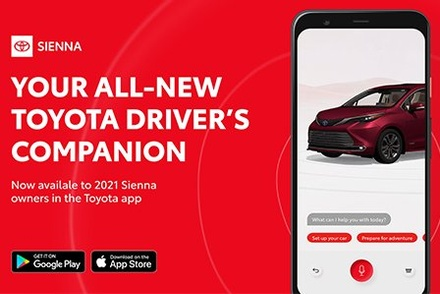 Screen shot of the new Toyota Sienna digital owner manual.