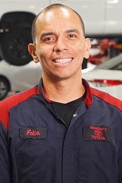 Master Technician Felix Arriola in Service & Parts Team at Westbury Toyota