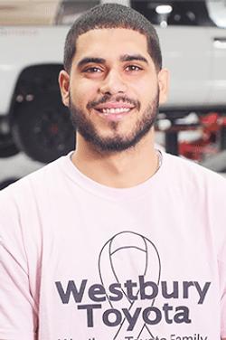Parts Specialist Sebastian Pimentel in Service & Parts Team at Westbury Toyota