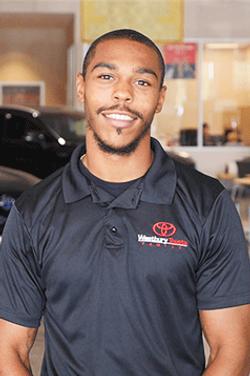 Sales Consultant Shakir Moore-Ellis in Sales at Westbury Toyota