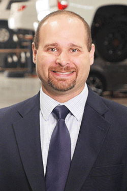 Parts Manager Andrew Goldstein in Service Management at Westbury Toyota