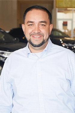 Finance Manager Hernan Arias in Finance at Westbury Toyota