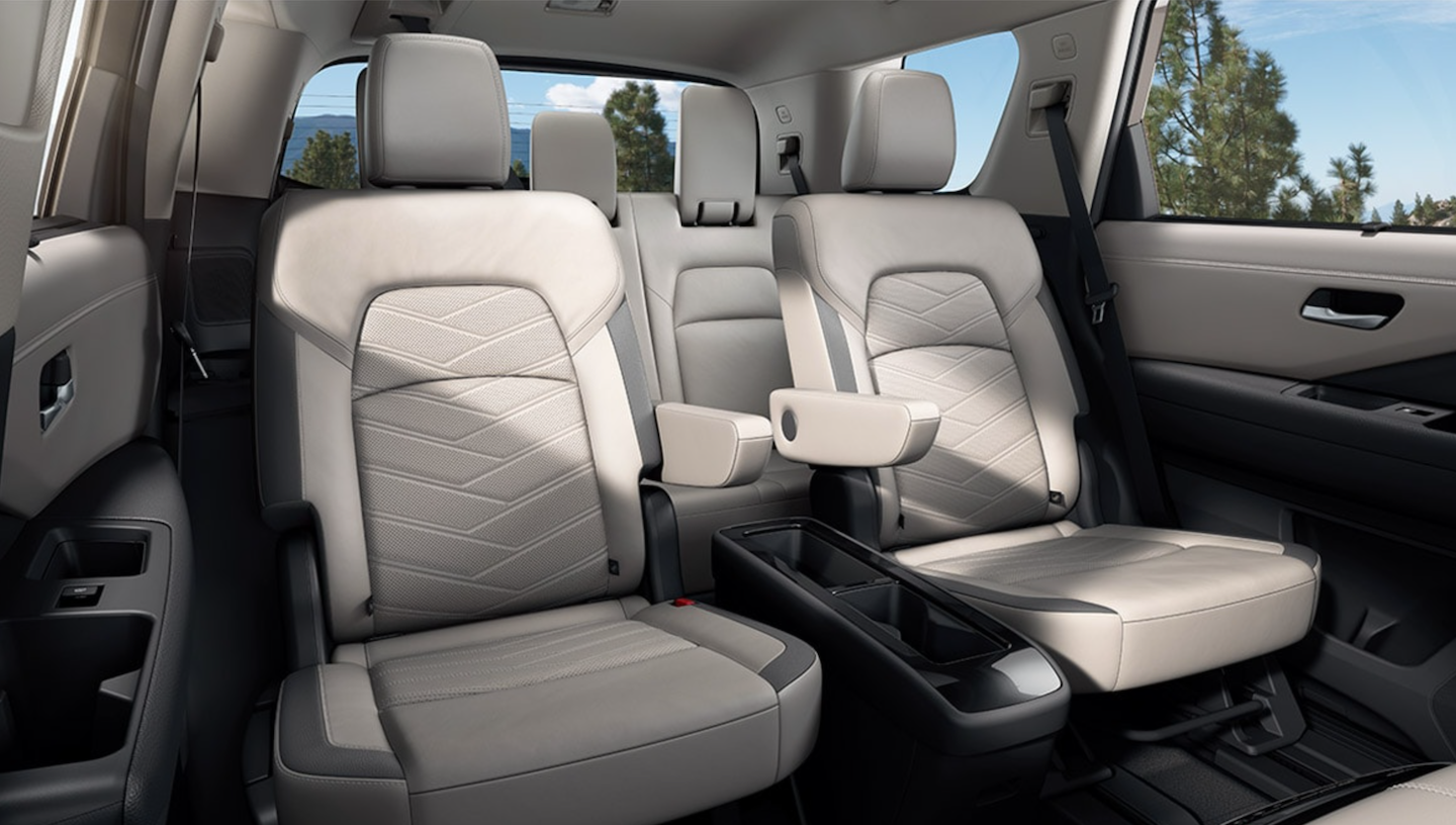 The second row Captain's Chairs available in the 2022 Nissan Pathfinder.