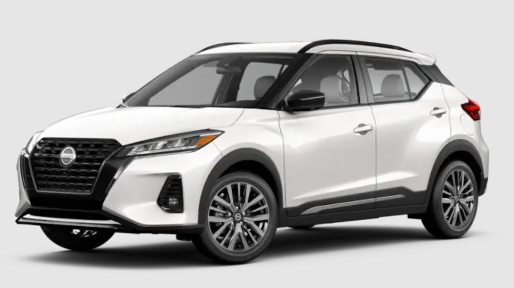 The 2021 Nissan Kicks in Aspen White TriCoat