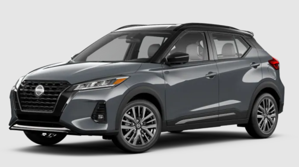 The 2021 Nissan Kicks in Boulder Gray Pearl and Super Black