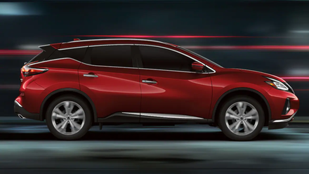 A red 2021 Nissan Murano available in Orlando.