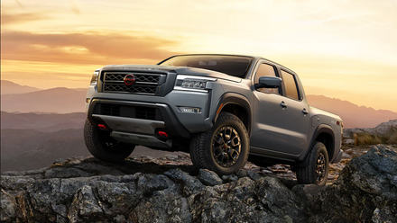 The 2022 Nissan Frontier off-roading near the Orlando area.