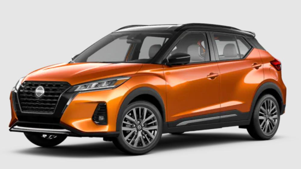 The 2021 Nissan Kicks in Monarch Orange Metallic and Super Black