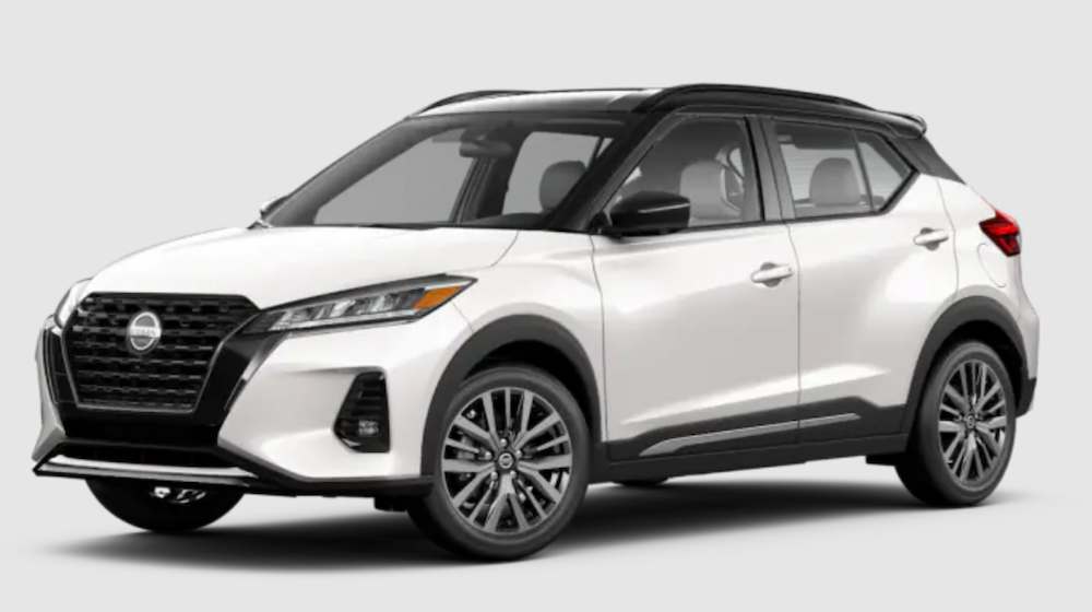The 2021 Nissan Kicks in Aspen White TriCoat and Super Black