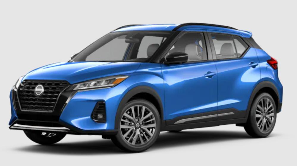 The 2021 Nissan Kicks in Electric Blue Metallic