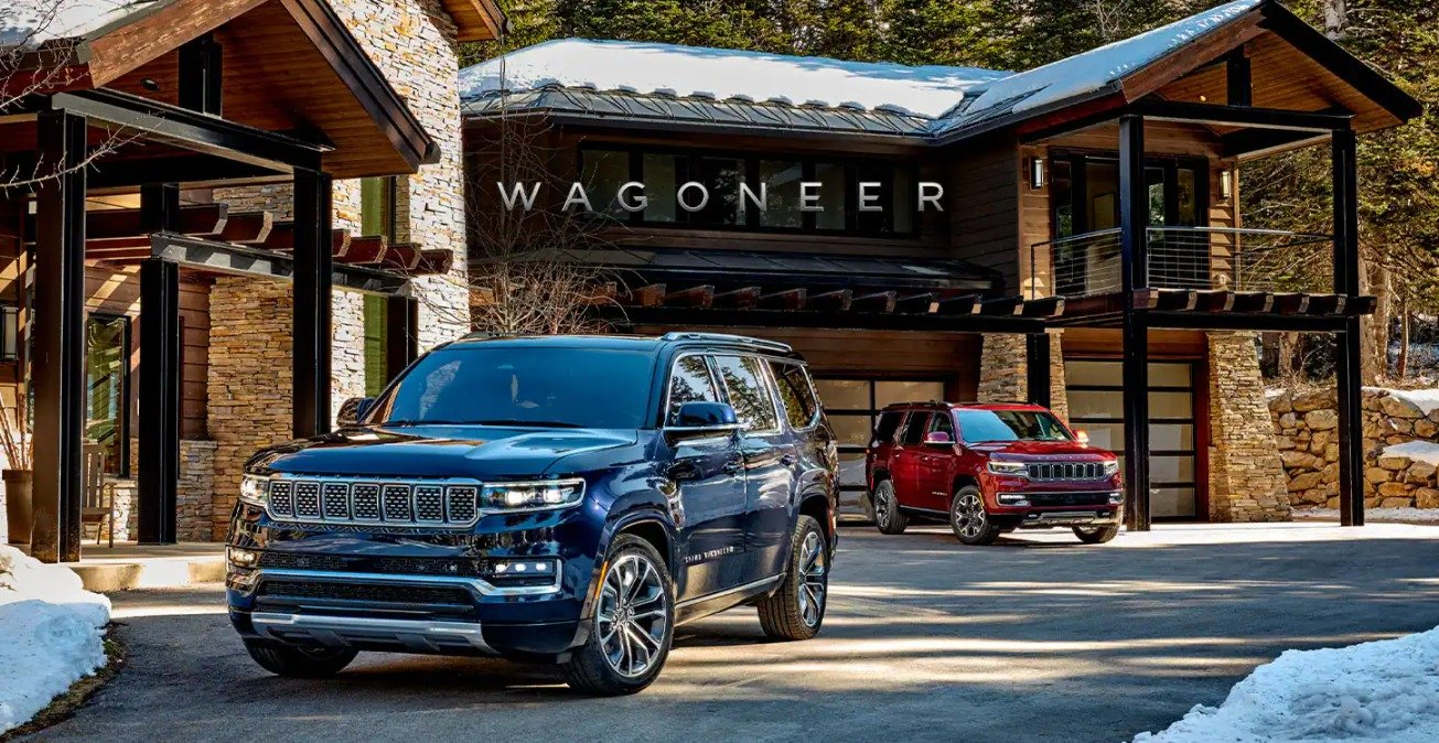 2022 Jeep Grand Wagoneer Cuts Through Canyons With V8 Power, Array of Over 100 Safety Features