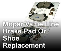 Coupon for Brake Pad Or Shoe Replacement