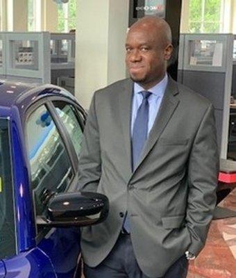 Sales Manager Chris Akinlotan in Sales Management at Landmark Dodge Chrysler Jeep Ram