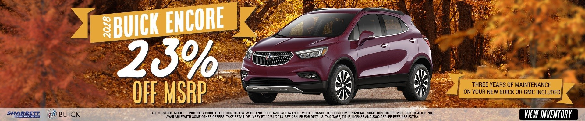 Get 23% off MSRP on a new 2018 Buick Encore